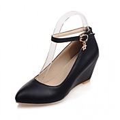 Mujer Zapatos Sintético / Cuero Patentado / Semicuero Primavera / Verano Confort / Innovador Tacones Paseo Tacón Cuadrado / Plataforma