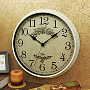 Retro Familia Reloj de pared,Redondo Plástico Interior Reloj