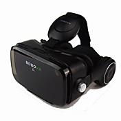 vr negro 3d glasse auricular integrado realidad virtual VR auricular bobo para el smartphone 4.7 a 6.2 pulgadas