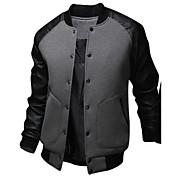 メンズ カジュアル/普段着 秋 冬 ボンバージャケット,活発的 カジュアル/普段着 パッチワーク レギュラー 長袖