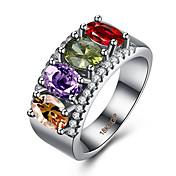 指輪 キュービックジルコニア ステンレス鋼 ジルコン キュービックジルコニア グリーン 混色 ジュエリー のために カジュアル 1個