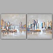 pintura al óleo abstracta moderna / clásica pintada a mano de la lona del panel