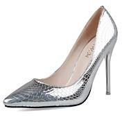 Mujer Zapatos Semicuero Primavera / Verano Tacones Tacón Stiletto Dedo Puntiagudo Plata / Fiesta y Noche / Vestido / Fiesta y Noche