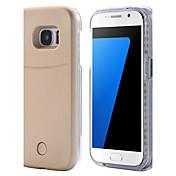 Para Samsung Galaxy S7 Edge Carcasa Funda LED Cubierta Trasera Funda Un Color Dura Policarbonato para SamsungS7 edge S7 S6 edge plus S6