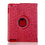 lureme® patrón de hadas caja de cuero de la PU para el ipad 2/3/4 adorable