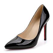 Mujer-Tacón Stiletto-Tira en T-Tacones-Boda Vestido Fiesta y Noche-Cuero Patentado-Negro Rosa Rojo Blanco Plata Oro Bermellón Melocotón