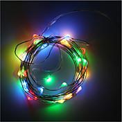 3aa con pilas 5 m 50 luces de alambre de cobre tira tira decoración vacaciones iluminación con caja de batería led luz de cadena