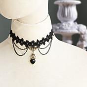 Joyas Gosurori Amaloli Lolita Clásica y Tradicional Punk Wa Marinera Collar Sensual Elegant Victoriano Rococó Princesa Inspiración Vintage