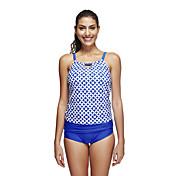 女性用 高通気性 高通気性 (>15,001g) 滑らか エラステイン テリレン 潜水服 半袖 スイムウェア-水泳 潜水 クラシック 縞柄