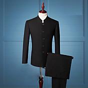 男性用 スーツ - ヴィンテージ アジアン・エスニック ソリッド