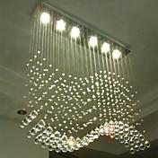 6-luz Cristal Lámparas Colgantes Luz Downlight - Cristal, LED, 110-120V / 220-240V, Blanco Cálido / Blanco Frío, Bombilla incluida / GU10