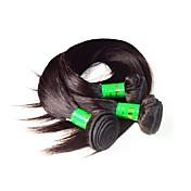 10aインディアンバージンヘアシルクストレート3本300gロットナチュラルブラックカラー100%未処理インド人毛