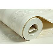 Floral Rayas Fondo de pantalla Para el hogar Clásico Revestimiento de pared , Tejido no tejido Material adhesiva requerida papel pintado,