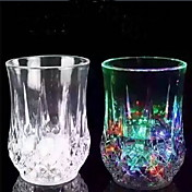 7オンスワインフルーツジュース水ソーダバー家庭用の電池をプラスチックカップ1の誘導虹のカップを主導