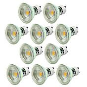 10 unids dimmable 5 w gu10 led proyector 500lm luz de bulbo de mazorca blanco cálido / frío ac220-240v
