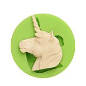 Mitos y leyendas occidentales molde de silicona de forma de unicornio para chocolate de caramelo y color de cookie al azar