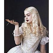 女性 人工毛ウィッグ キャップレス ウェーブ ブリーチブロンド コスプレ用ウィッグ コスチュームウィッグ
