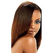 Cabello humano Cabello Hindú Tejidos Humanos Cabello Encrespado Extensiones de cabello 1 Pieza castaño medio