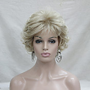 Mujer Pelucas sintéticas Sin Tapa Corto Rizado Rubio Con flequillo Peluca natural Peluca de Halloween Peluca de carnaval Las pelucas del