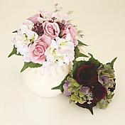 シックな美しい人工ローズピローブーケ結婚式のアクセサリー& モダン