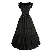 ワンピース/ドレス ゴスロリータ ビンテージ コスプレ ロリータドレス ブラック ビンテージ バタフライ ノースリーブ ロング丈 ドレス ために サテン コットン