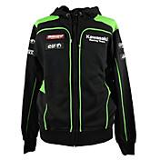 kawasaki motorsport racing chaqueta con capucha negro / verde color mens biker sudadera