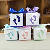 titular de papel cúbico para tarjetas a favor con cajas-12 favores de la boda