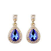 ヨーロッパとアメリカのファッションダイヤモンドドロップイヤリングエレガントなスタイル