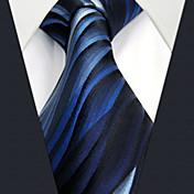 メンズ ヴィンテージ キュート パーティー オフィス カジュアル ネクタイ,シルク 幾何学模様,オールシーズン ブルー