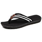 Hombre-Tacón Plano-Suelas con luz-Zapatillas y flip-flop-Exterior Informal-Microfibra Cuero-Negro Gris Rojo Caqui