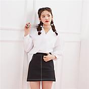 Signo de primavera de 2017 nueva versión coreana de la camisa de la pequeña camisa salvaje fresco de la moda salvaje
