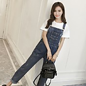 supermodelo firmar pantalones rectos flojos femenina otoño guardapolvos jeans vintage lavados agujero de mezclilla