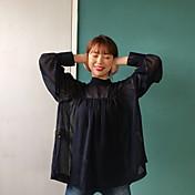 シフォンブラウスと小さな襟層リボンのリボン弓の斜視図を購入する韓国