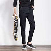 四季男性スリムカジュアルメンズのジーンズ流入' sの長ズボンの男性の足