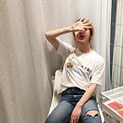 半袖Tシャツ日本の女子学生のプリントピストルジェスチャー甘い桃の心の夏2017の新しい韓国語バージョンでは、実際のショット