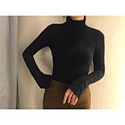 ソリッドカラーのサインホーン袖シャツ