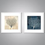 額入りキャンバス地プリント 抽象画 花柄/植物の 伝統風 リアリズム,2枚 キャンバス プリント 壁の装飾 For ホームデコレーション
