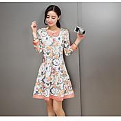 韓国の気質シンプルファッションワンピース2017春の新しい人形の襟の女性のドレスソリッドカラー野生