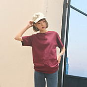 サイン南韓国のスーパーワイルドルーズソリッドカラーTシャツカップル古典的な綿のTシャツの女性