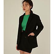 春と夏のレジャー野生のメスツーピースのスーツのスーツのジャケット+スカートの17韓国語バージョン