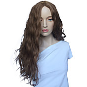 Ženy Dlouhý Béžová Vlnité Umělé vlasy Bez krytky Přírodní paruka paruky