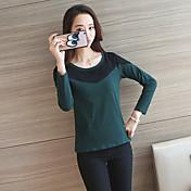 2017 muestra mujeres nueva versión coreana de la camiseta ocasional de manga larga que basa la camisa de algodón delgado salvaje camisa de
