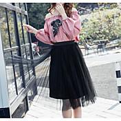 新しい女性の2017春のスーツの女性の韓国語バージョン'シフォンドレスツーピースドレスのファッションスタイル