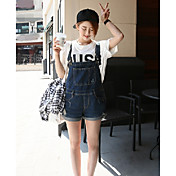 Mujer Un Color Tiro Medio Eslático Corte Ancho Pantalones,Corte Ancho Color sólido Color puro