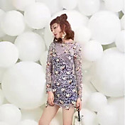 sp 2017スプリングスタードレスセクシーレースドレス女性スリム薄いベーススカート