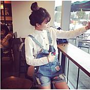 2015 primavera yardas grandes flojas de la correa era delgada pantalones cortos de mezclilla ocasional femenina coreano cortos