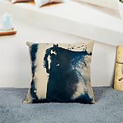 1 個 リネン 枕カバー,装飾&刺繍 グラフィック カジュアル オフィス その他 装飾