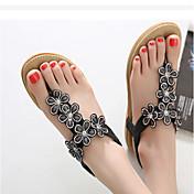 MujerSuelas con luz-Zapatos de taco bajo y Slip-Ons-Informal-PU-Negro Morado Almendra