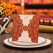 両観音折り 結婚式の招待状-招待状カード フローラル カード用紙 プリント