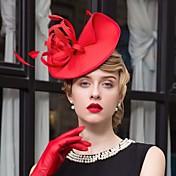 フェザーファブリックの魅力帽子のヘッドピースクラシックな女性のスタイル